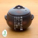 三鈴陶器 みすず栗形ごはん鍋 3合炊き 日本製 直火用 炊飯土鍋 業務用