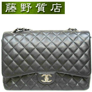 [Good Condition] Chanel CHANEL Mattrasse Chain Shoulder Bag Double Flap Caviar x Black (Inside Bordeaux) Silver Hardware 8100