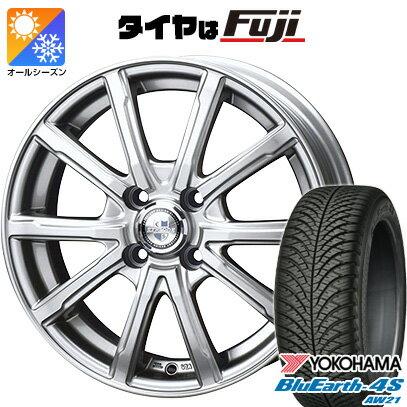 タイヤ・ホイール, オールシーズンタイヤ・ホイールセット  18560R15 15 BIGWAY EXPLODE DM-10 5.5J 5.50-15 YOKOHAMA 4S AW21 4