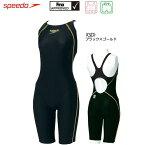 【あす楽対応】speedo スピード 競泳水着 FLEXΣ ウイメンズ セミオープンバックニースキン SD40H3SF GDカラー