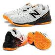 【あす楽対応】 newbalance ニューバランス テニスシューズ メンズ オールコート MC496WB1 2E WHITE/ORANGEカラー