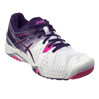 asics亞瑟士網球鞋女士女士凝膠解決6 TLL752 0133彩色