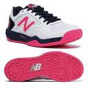 【あす楽対応】 ニューバランス newbalance テニスシューズ レディース WC100 WP1 D WHITE/NAVYカラー オムニ/クレーコート用