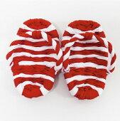 初めて誕生日を迎える赤ちゃんの初誕生祝の時に使用するおめでたい紅白のわらじです。このわらじを履いて一生餅を背負わせます。『初誕生紅白わらじ』