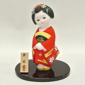 博多人形童物『舞妓源慶作』(赤色)