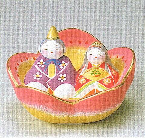 【博多人形】【雛人形】『花雛 四郎作』