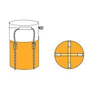 フレキシブルコンテナバッグAタイプ(10枚入り)耐荷重1t(反転ベルトなし・UVあり)大型土のう袋土嚢袋トンバッグ【HLS_DU】
