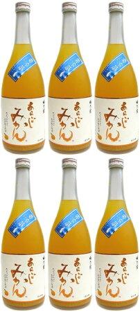 【送料無料】あらごしみかん酒7度720ml×6本セット!※沖縄・離島は別途中継料が加算となります。※冬季以外、こちらはクール瓶をお選び下さい。