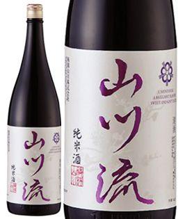 梅錦山川流純米酒1800ml【やまかわりゅう】
