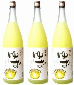 【送料無料】ゆず酒を存分に味わいたい方へおすすめです♪【柚子酒】梅乃宿 ゆず酒1800ml×3本...