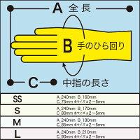ニトリルグローブサイズ表