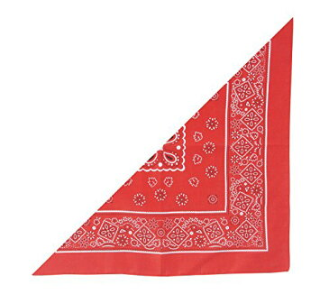 三角 バンダナ 赤 2715