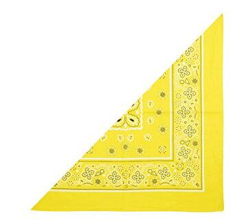 三角 バンダナ 黄 2717