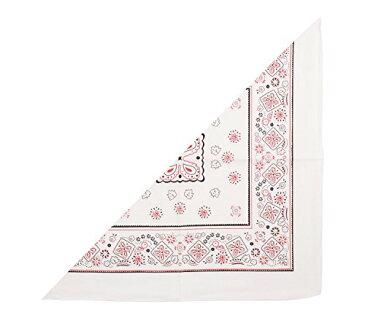 三角 バンダナ 白 2718