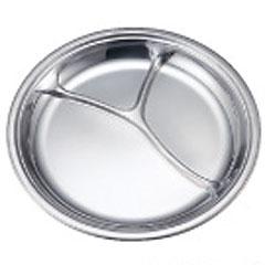 Ikeda不銹鋼製造餐具IKD環保清潔午餐盤子圓形[貨到付款不可]
