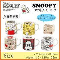 含SNOOPY(史努比)木盒的啤酒杯史努比、SN121-11H