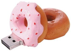 GREEN HOUSE(グリーンハウス) USBフラッシュメモリ ファーストフード 2GB 「ストロベリードーナツ」GH-UFD2GF-DS
