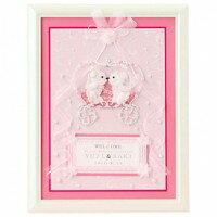 パナミ ウェディング クラウンベアのウェルカムボード ピンク 作品(完成品) HW-2...