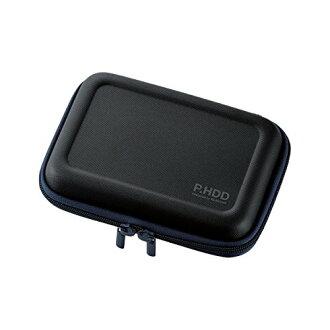 為可擕式硬碟盒半硬 L 大小 HDD 跌傷預防與黑色 HDC-SH002BK