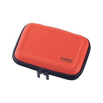 為可擕式硬碟盒半硬 L 大小 HDD 跌倒預防網路與橙色 HDC-SH002DR