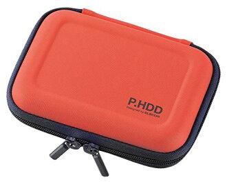 為可擕式硬碟盒半硬 S 大小 HDD 跌倒預防網路與橙色 HDC-SH001DR