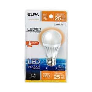 (まとめ買い)エルパ LED電球 E17口金 全光束280lm(3.5Wミニクリプトンタイプ) 電球色相当 elpaball LDA4L-H-E17-G407 〔×3〕