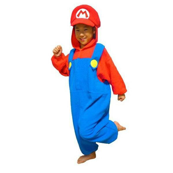 サザック フリース着ぐるみ スーパーマリオ マリオ 子供用 BAN-057F・110cm【代引不可】【北海道・沖縄・離島配送不可】