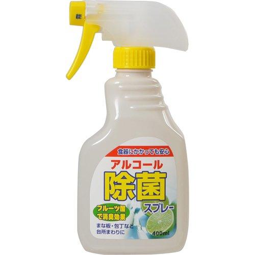 アルコール除菌スプレー400ml 〔まとめ買い120個セット〕:フジックス