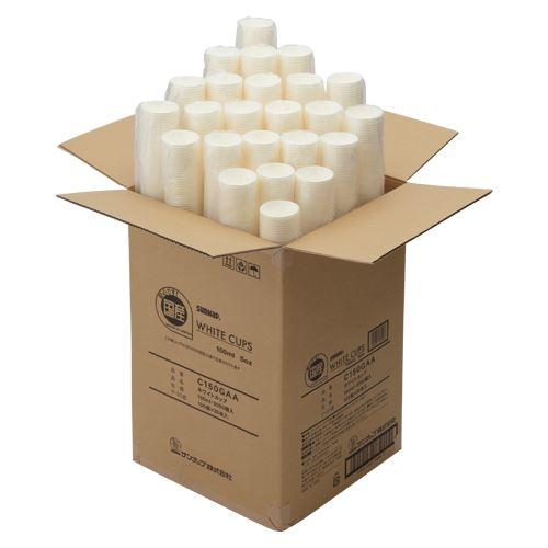 (まとめ)サンナップ ホワイトカップ 3000個入 C150GAA 〔まとめ買い×3セット〕:フジックス