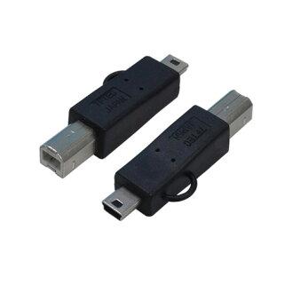 轉換大師轉換插頭 USB B (m)-> 連接線 (男) USBBA M5A