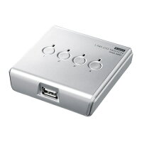 【送料無料】サンワサプライUSB2.0手動切替器(4:1)SW-US24N(356)00028890〔まとめ買い3個セット〕【10P06Aug16】