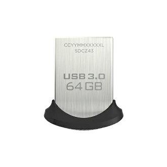 SanDisk USB3.0快閃記憶體64GB超合身USB存儲器130MB/s SDCZ43-064G-GAM46[貨到付款不可]