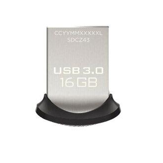 SanDisk USB3.0快閃記憶體16GB超合身USB存儲器130MB/s SDCZ43-016G-GAM46