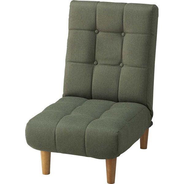 【送料無料】リクライニングチェア(座椅子) ジョイン 14段階リクライニング ポケットコイル THC-107GR グリーン(緑)【代引不可】 ロータイプでも使用可能!1人掛けフロアソファー/リビングチェア