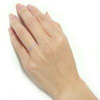 【送料無料】K18ピンクゴールド天然ダイヤリング指輪ダイヤ0.20ct11.5号GoodHSIハーフエタニティリング【】【10P18Jun16】