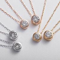 【送料無料】K18YG0.1ctダイヤモンドフクリンペンダント【】【10P18Jun16】