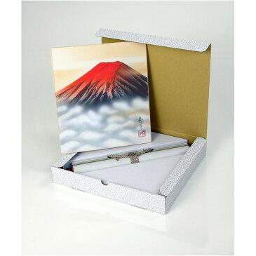 色紙掛/掛け軸 〔葛谷聖山 梅月 赤富士〕 長さ:57cm 入れ替え可 日本製【代引不可】