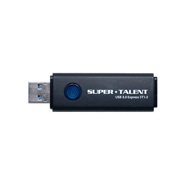 SUPERTALENT USB3.0フラッシュメモリ 64GB ワンプッシュスライド ST3U64ES12【代引不可】