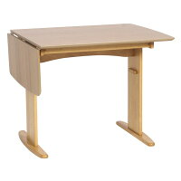 【送料無料】伸長式ダイニングテーブル/バタフライテーブル〔幅90cm/120cm〕木製スライドタイプ『バター』ナチュラル【】