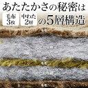 ぬくぬく快適!あったか5層構造カラー毛布 〔ダブルサイズ/2色組〕 衿付き マイクロファイバー使用【代引不可】【北海道・沖縄・離島配送不可】 3