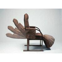 【送料無料】天然木低反発高座椅子座ったままリクライニング高さ2段階調整可ポケット/リクライニングレバー/肘付き【】【10P18Jun16】