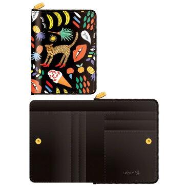 【送料無料】7321Design(7321デザイン) 可愛いギフトボックスに入った小銭入れ付ミニ財布/BBH/トロピカルジャングル(ブラック)【代引不可】