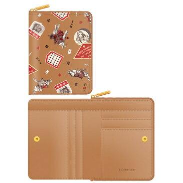 【送料無料】7321Design(7321デザイン) 可愛いギフトボックスに入った小銭入れ付ミニ財布/アリス/ラベル(ベージュ)【代引不可】