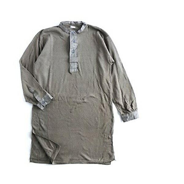 スウェーデン軍放出M39ワッフルヘンリースリーピングシャツ 未使用デットストック L【代引不可】【北海道・沖縄・離島配送不可】