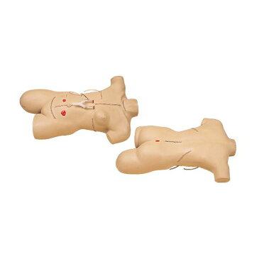 【送料無料】外科包帯法シミュレーター/看護実習モデル人形 〔手術創/全身14ヶ所〕 M-111-2【代引不可】