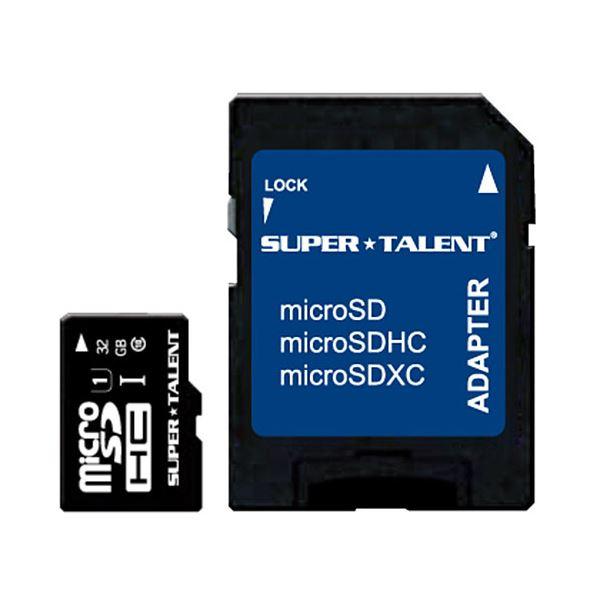 (まとめ)スーパータレント UHS-ICLASS10対応 microSDHCカード 32GB ST32MSU1P 1枚〔×2セット〕【代引不可】