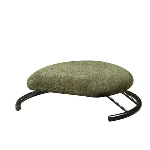 あぐら椅子/正座椅子 〔モスグリーン×ブラック〕 幅50cm 耐荷重80kg 日本製 スチール 『座ユー』 〔リビング〕【代引不可】【北海道・沖縄・離島配送不可】