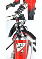 【送料無料】トニーノ・ランボルギーニ 20インチ 折りたたみ自転車 6段変速 前後Wサス TL-207【】 すれ違う人々の注目を集めるランボルギーニ