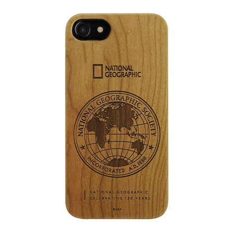 National Geographic iPhone8/7 130th Anniversary case Nature Wood チェリーウッド 【代引不可】