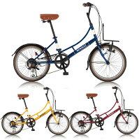 【送料無料】RENAULT(ルノー)20インチミニベロ小径自転車6段変速206LClassic-NLEDダイナモライト後輪リング錠フロントキャリア搭載新着【】